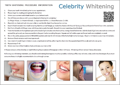 Teeth Whitening Treatment Card