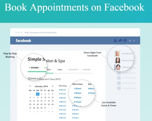 Teeth Whitening Booking app for Facebook