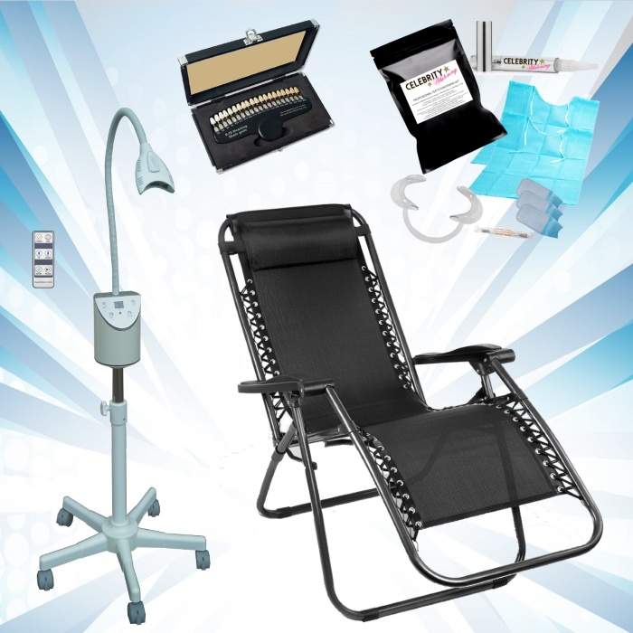 Lite 2000 Mobile Teeth Whitening Kit + Chair - 12 Treatments
