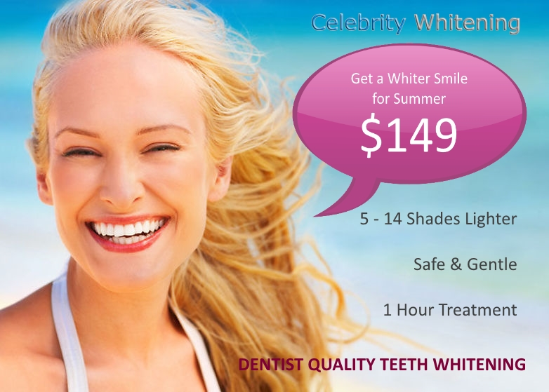 Celebrity Whitening Summer teeth whitening
